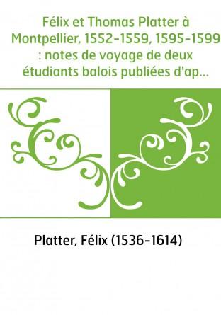 Félix et Thomas Platter à...