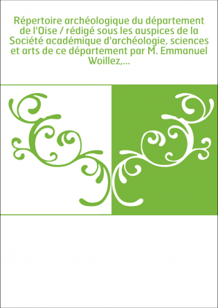 Répertoire archéologique du...