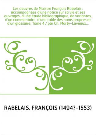 Les oeuvres de Maistre François...