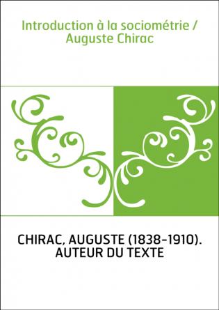 Introduction à la sociométrie /...