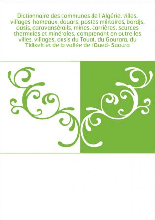 Dictionnaire des communes de...