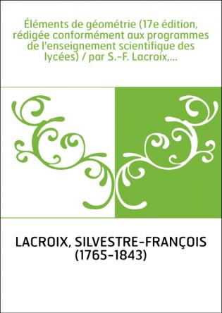 Éléments de géométrie (17e édition,...