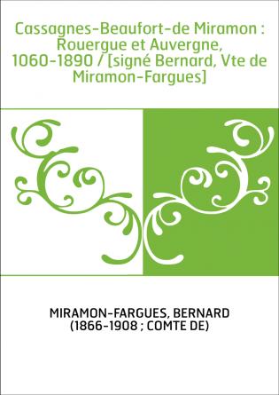 Cassagnes-Beaufort-de Miramon :...