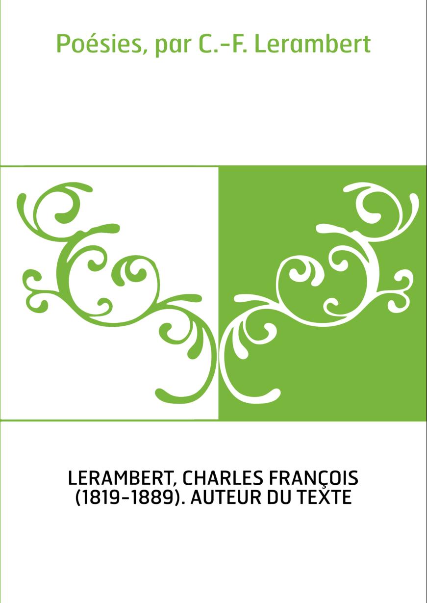 Poésies, par C.-F. Lerambert