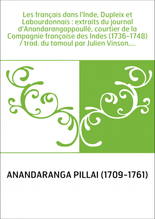 Les français dans l'Inde, Dupleix et...