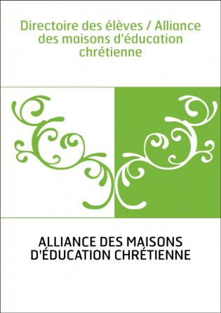 Directoire des élèves / Alliance des...