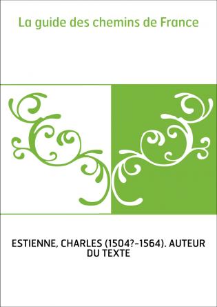 La guide des chemins de France