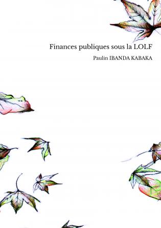 Finances publiques sous la LOLF