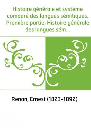 Histoire générale et système comparé...