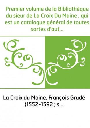 Premier volume de la Bibliothèque du...