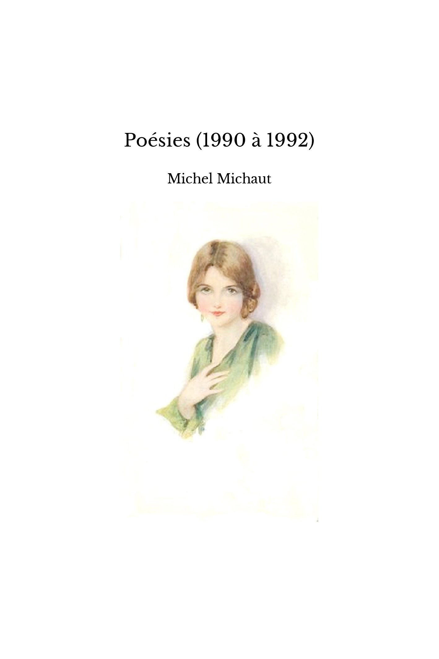Poésies (1990 à 1992)