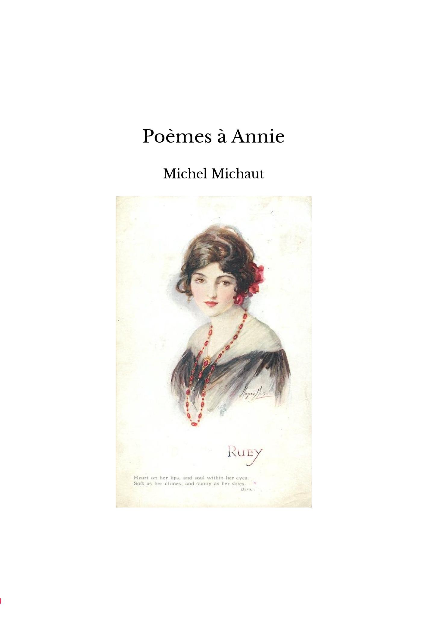 Poèmes à Annie