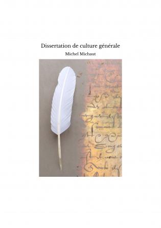 Dissertation de culture générale