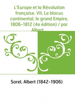 L'Europe et la Révolution française....