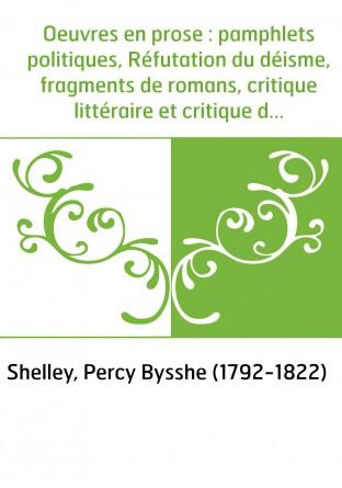 Oeuvres en prose : pamphlets...