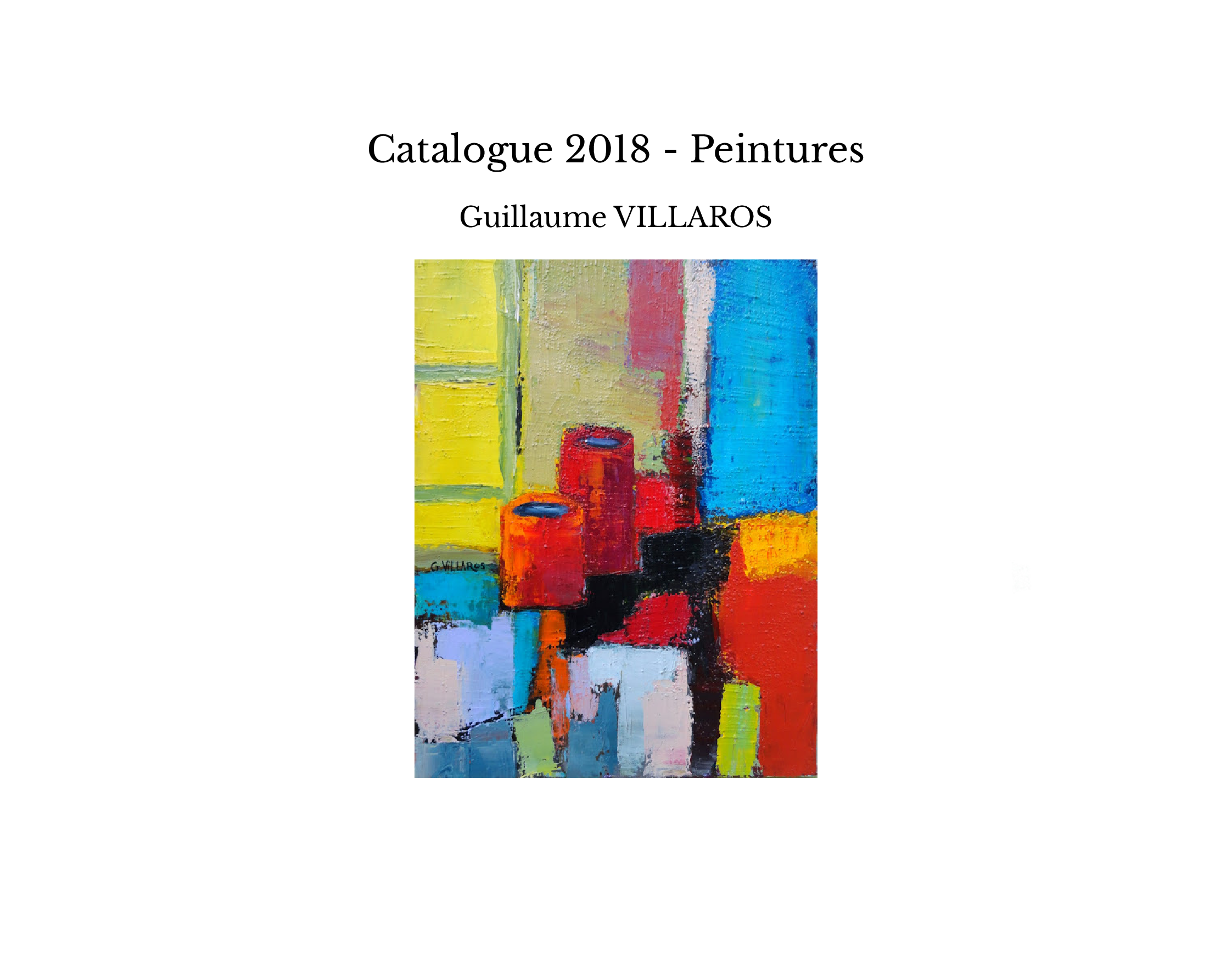 Catalogue 2018 - Peintures