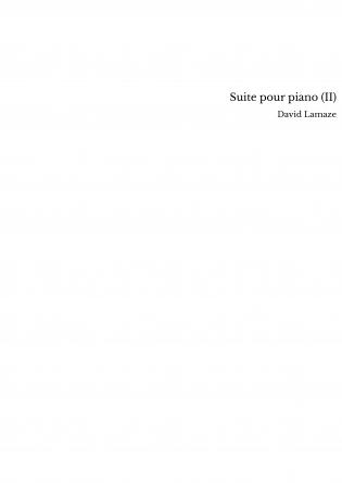 Suite pour piano (II)