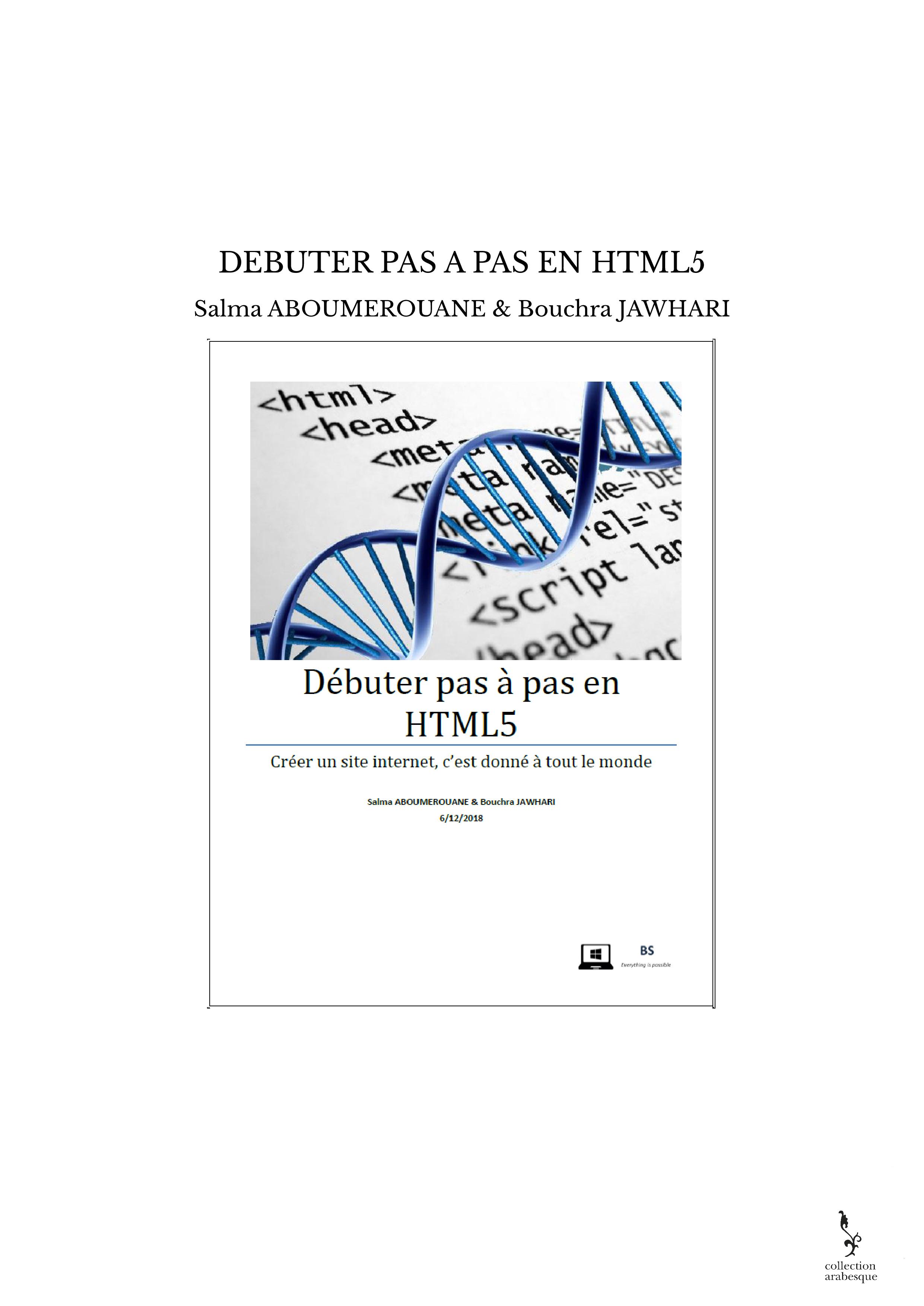 DEBUTER PAS A PAS EN HTML5