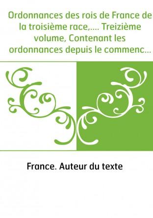 Ordonnances des rois de France de la...