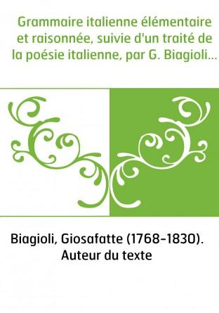Grammaire italienne élémentaire et...
