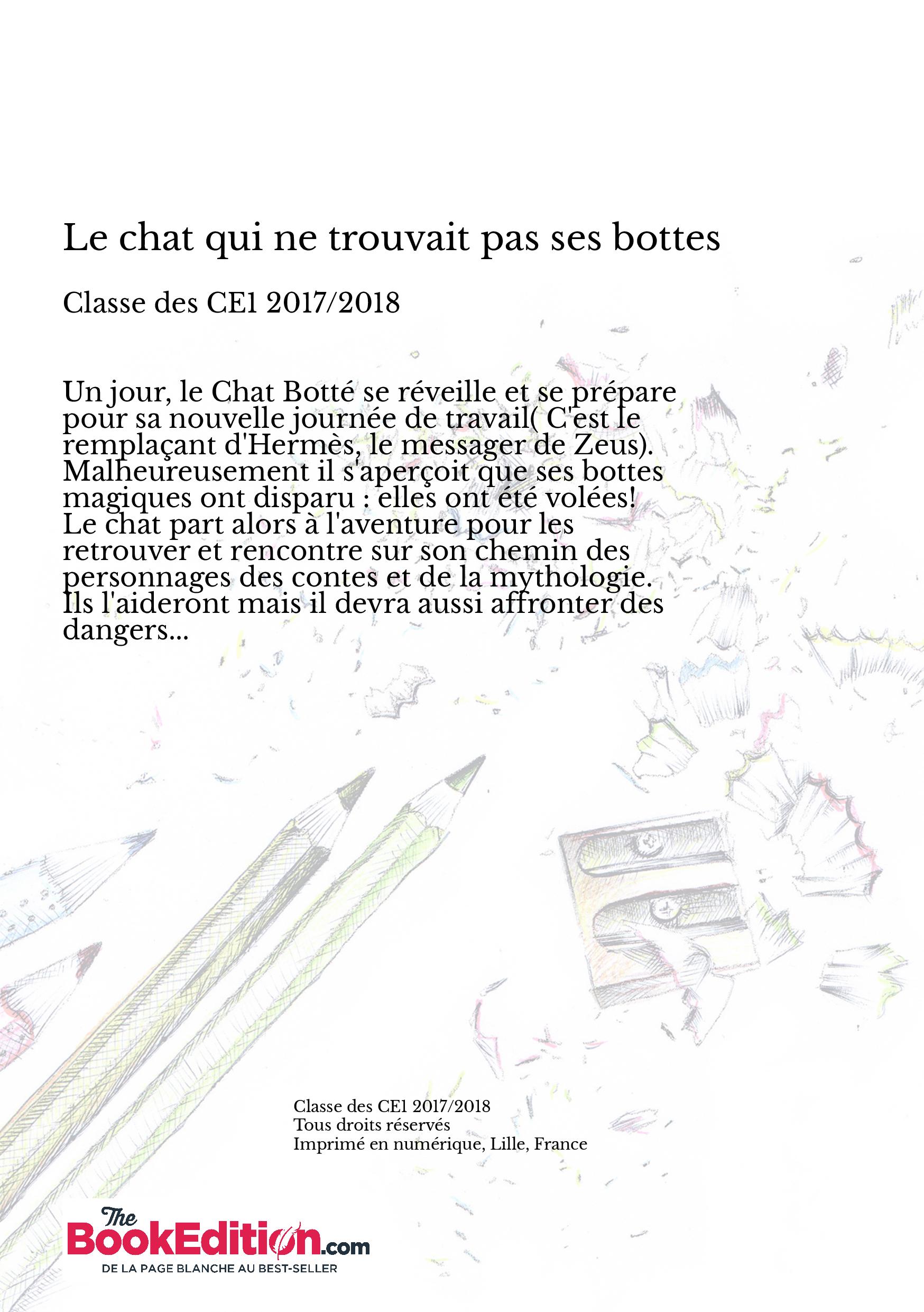 Le Chat Qui Ne Trouvait Pas Ses Bottes Classe Ce1 2017 2018
