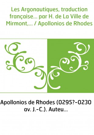 Les Argonautiques, traduction...