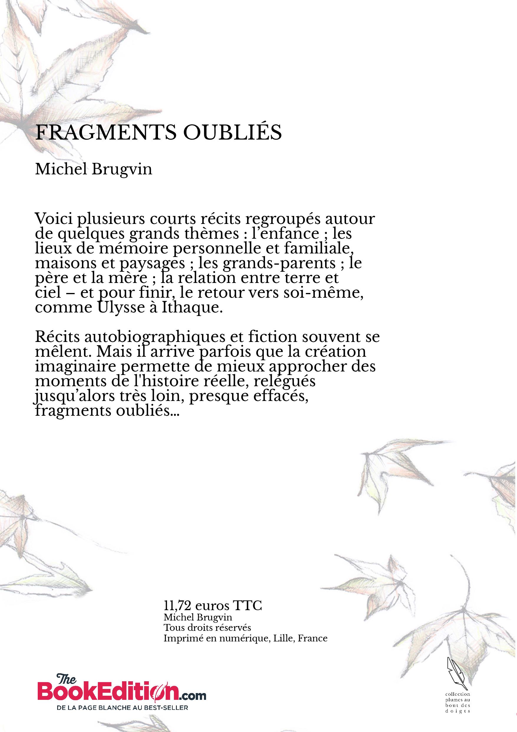 Fragments oubli s michel brugvin - Effroyables jardins michel quint resume complet ...