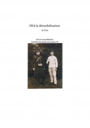 1914 la démobilisation