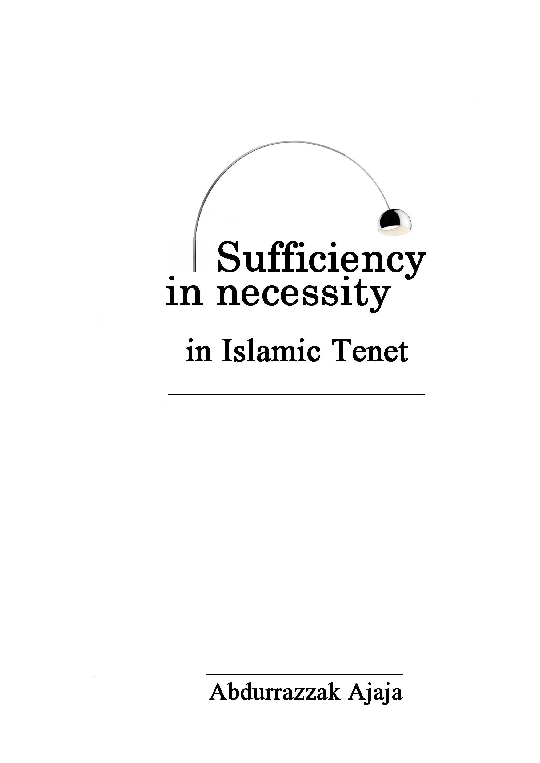 Sufficiency in necessity in Islam