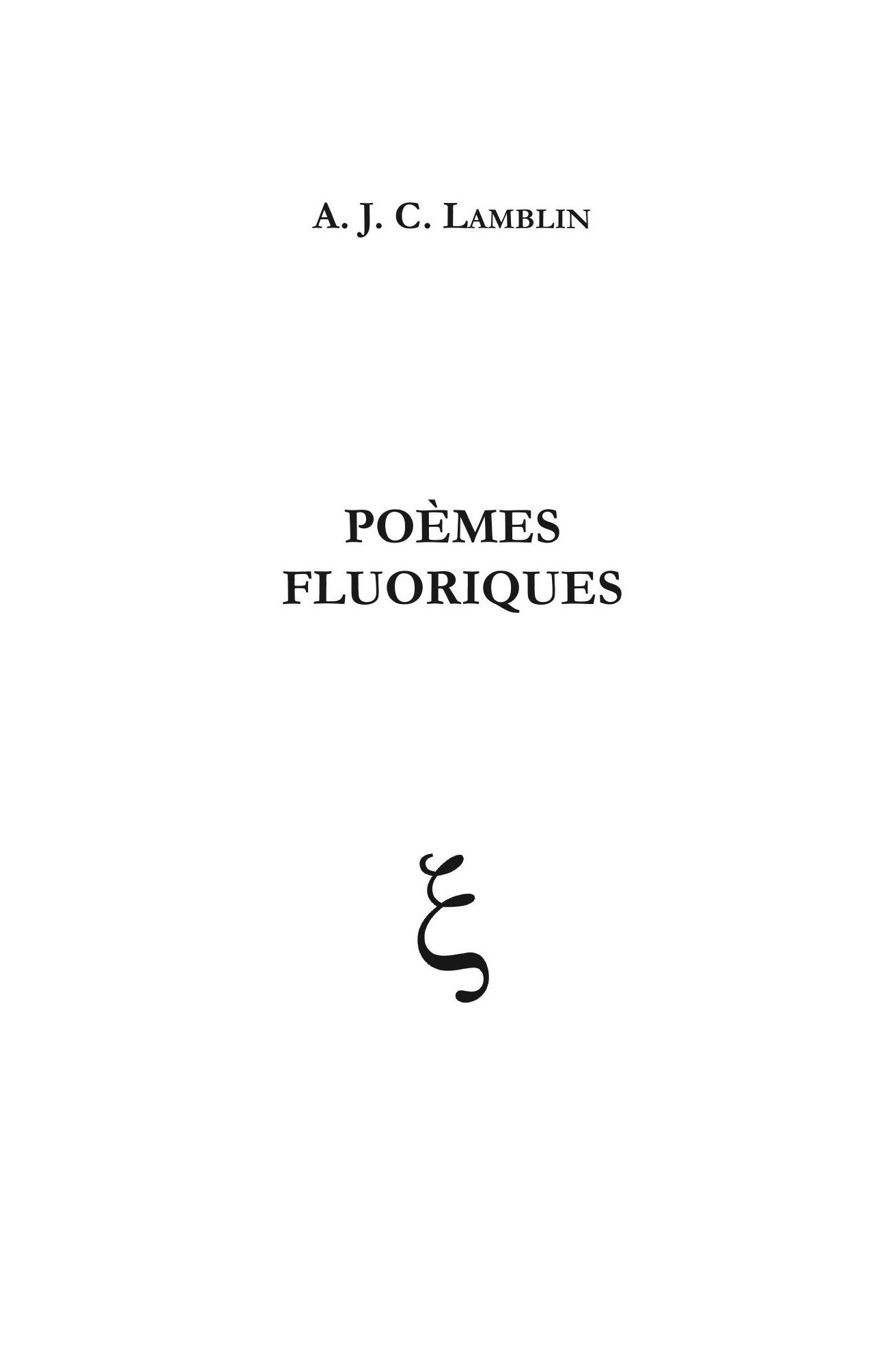 POÈMES FLUORIQUES