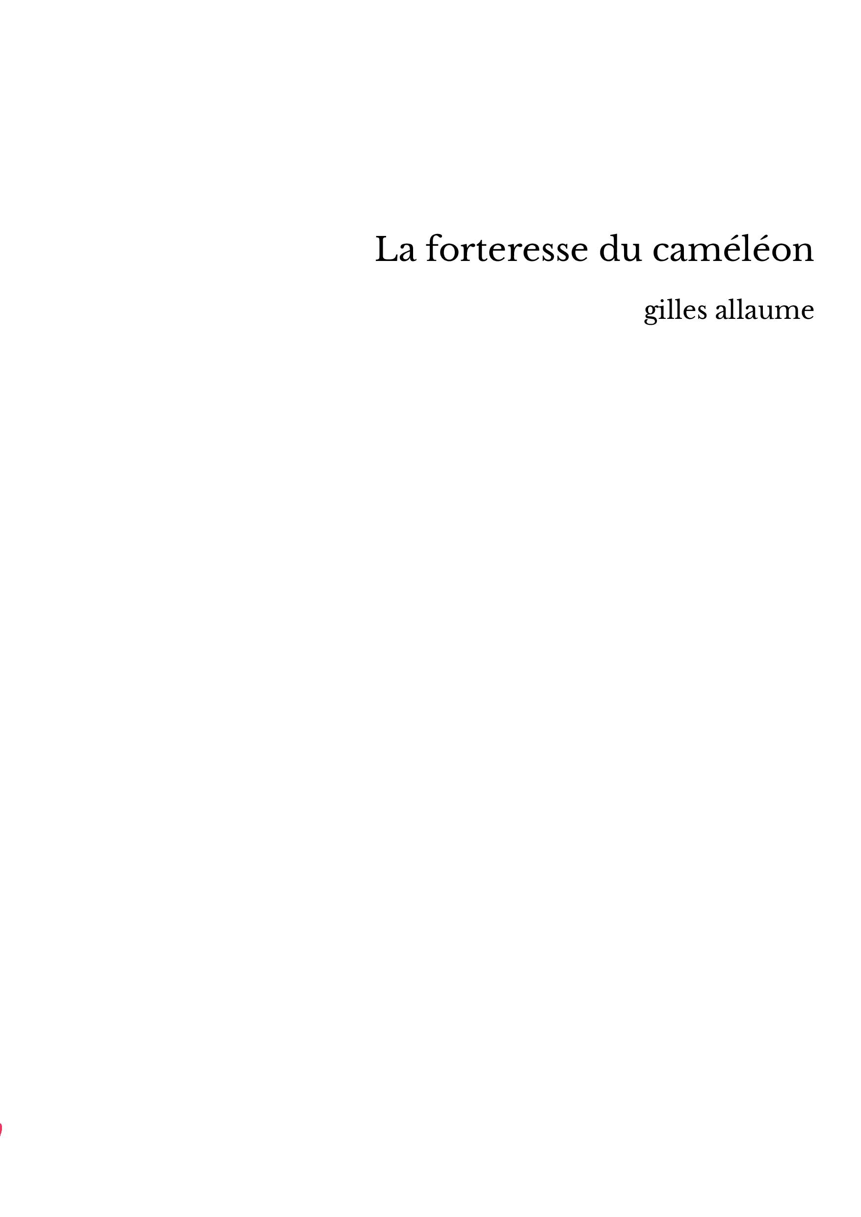 La forteresse du caméléon