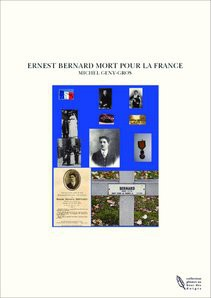 ERNEST BERNARD MORT POUR LA FRANCE