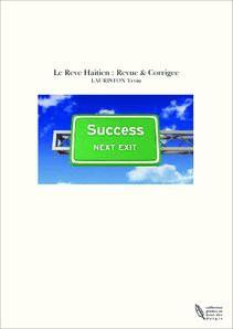 Le Reve Haitien : Revue & Corrigee