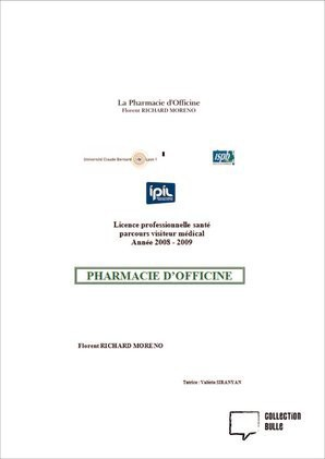 La Pharmacie d'Officine