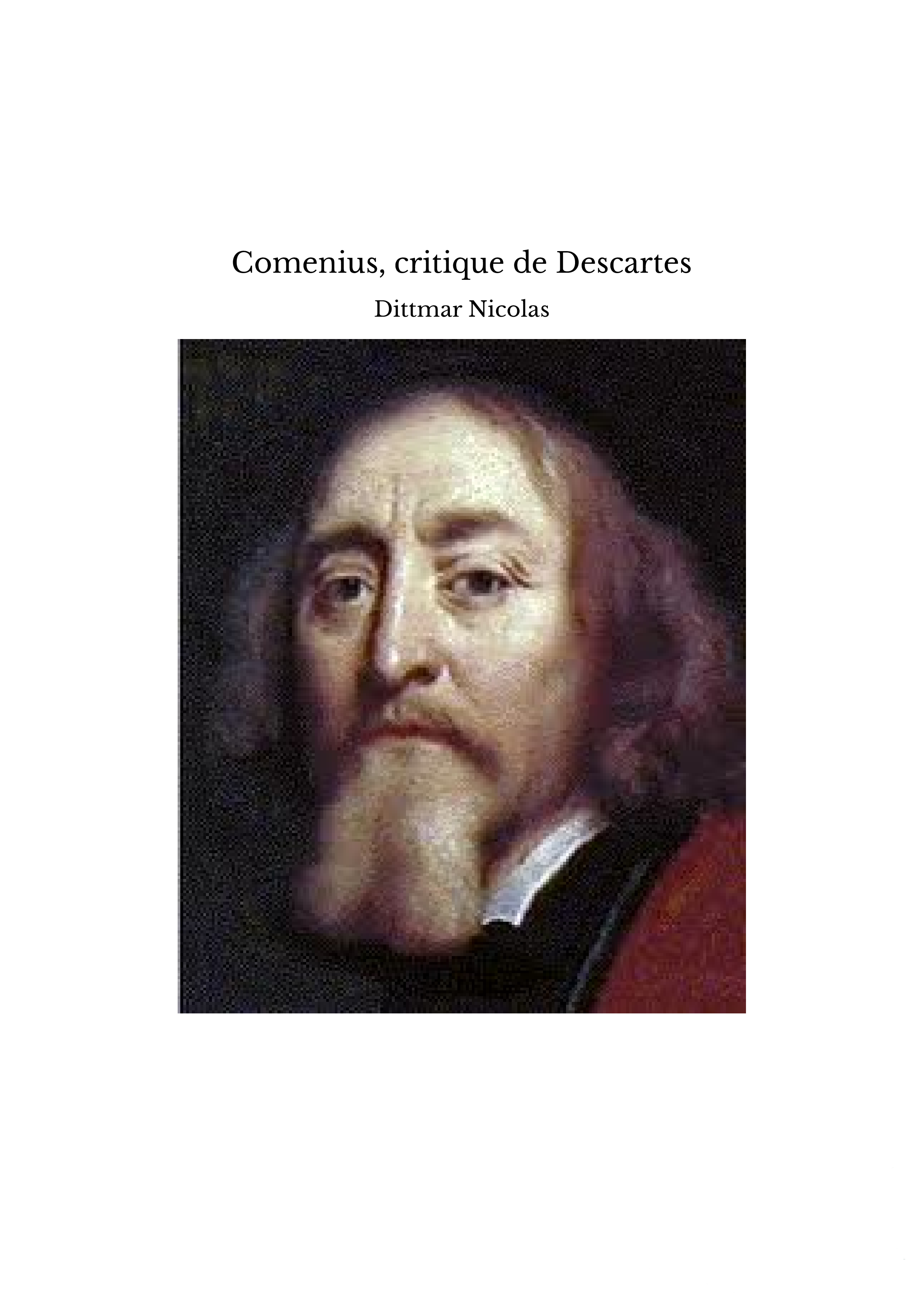 Comenius, critique de Descartes