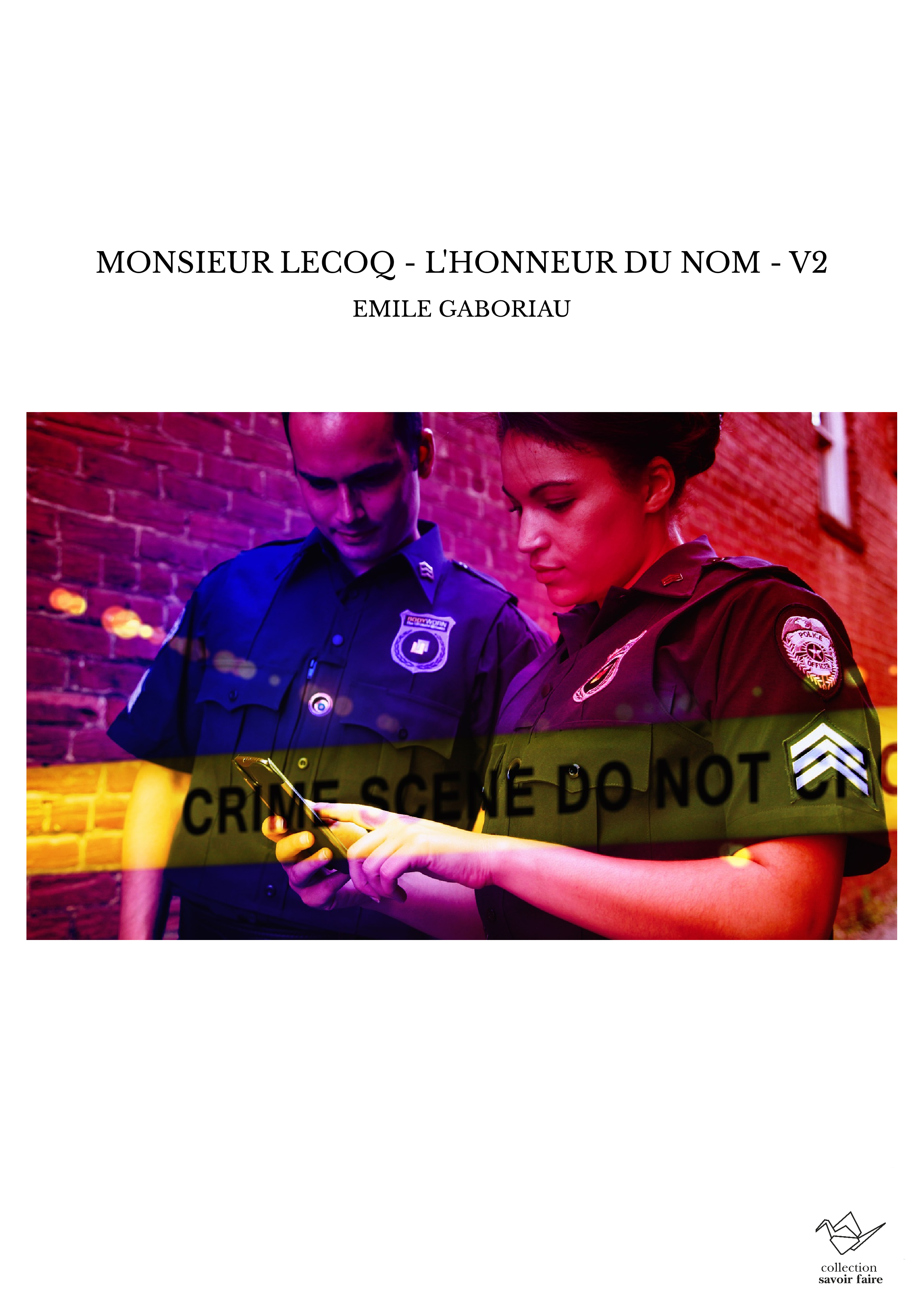 MONSIEUR LECOQ - L'HONNEUR DU NOM - V2