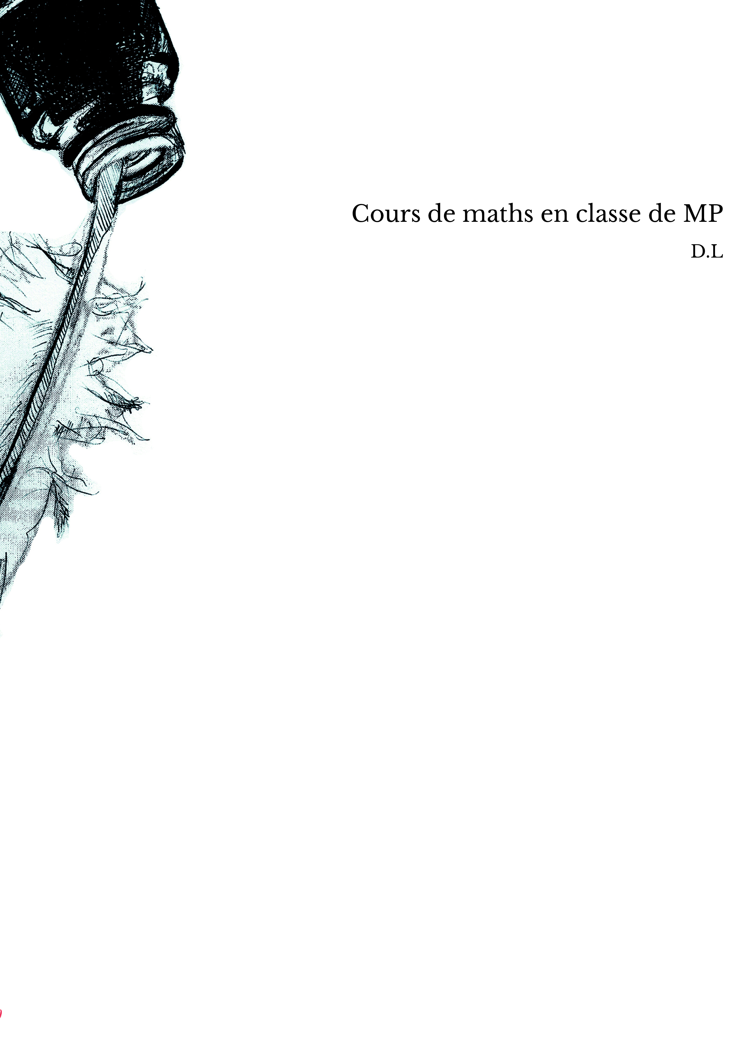 Cours de maths en classe de MP