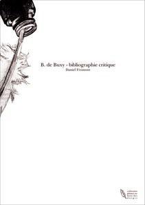 B. de Buxy - bibliographie critique