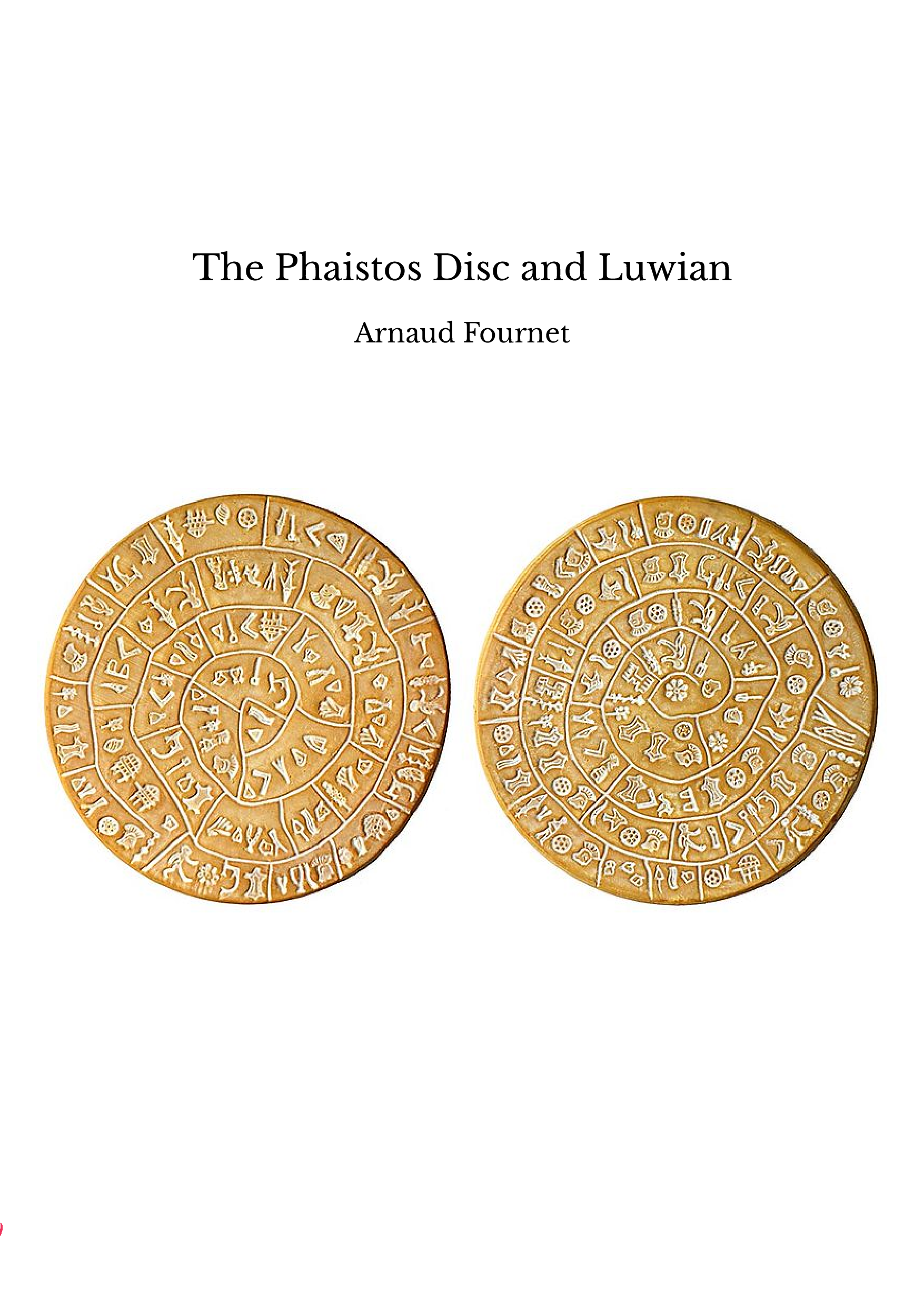 The Phaistos Disc and Luwian