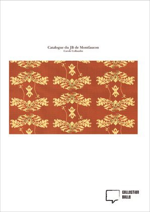 Catalogue du JB de Montfaucon