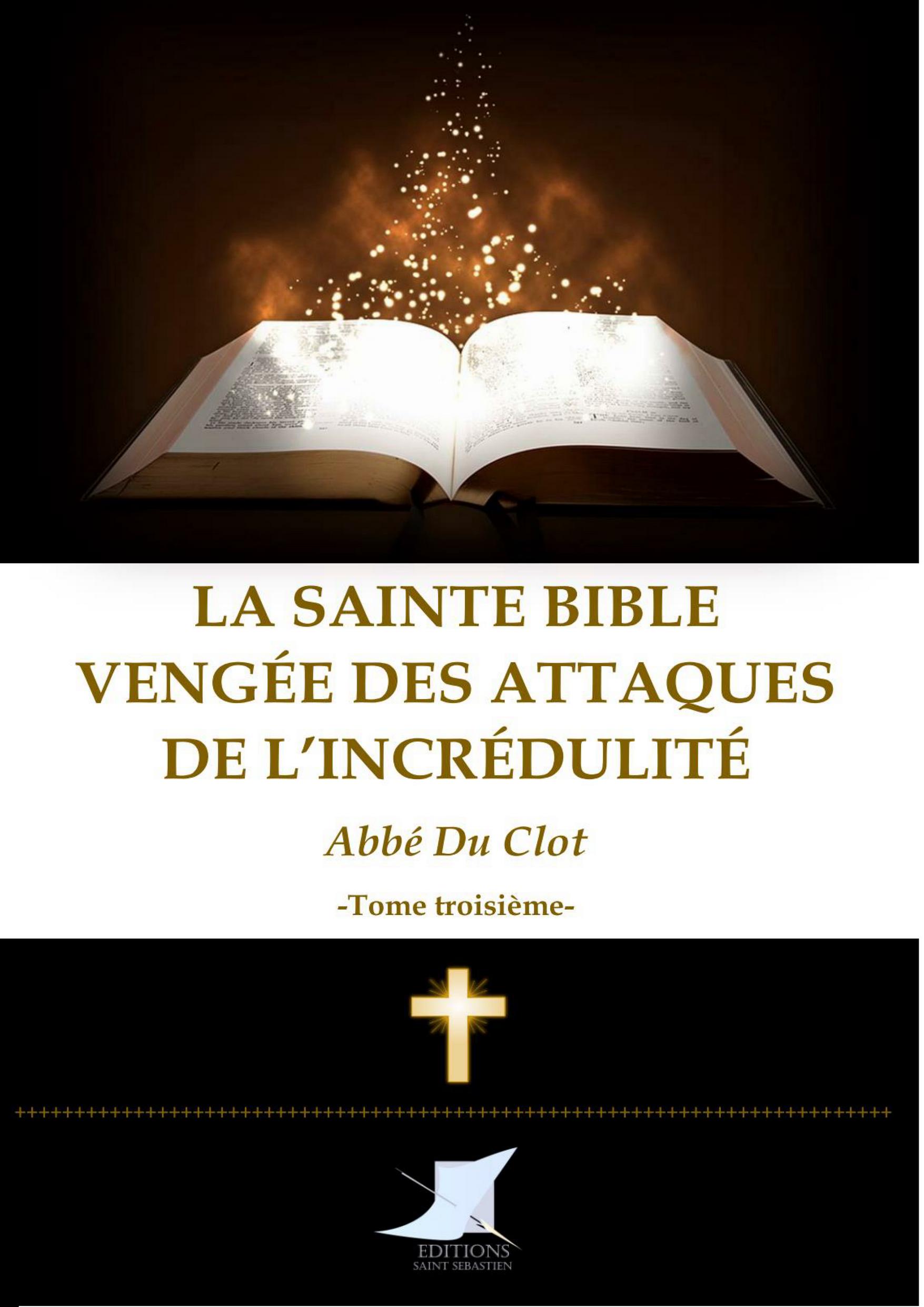La Sainte Bible vengée Tome troisième