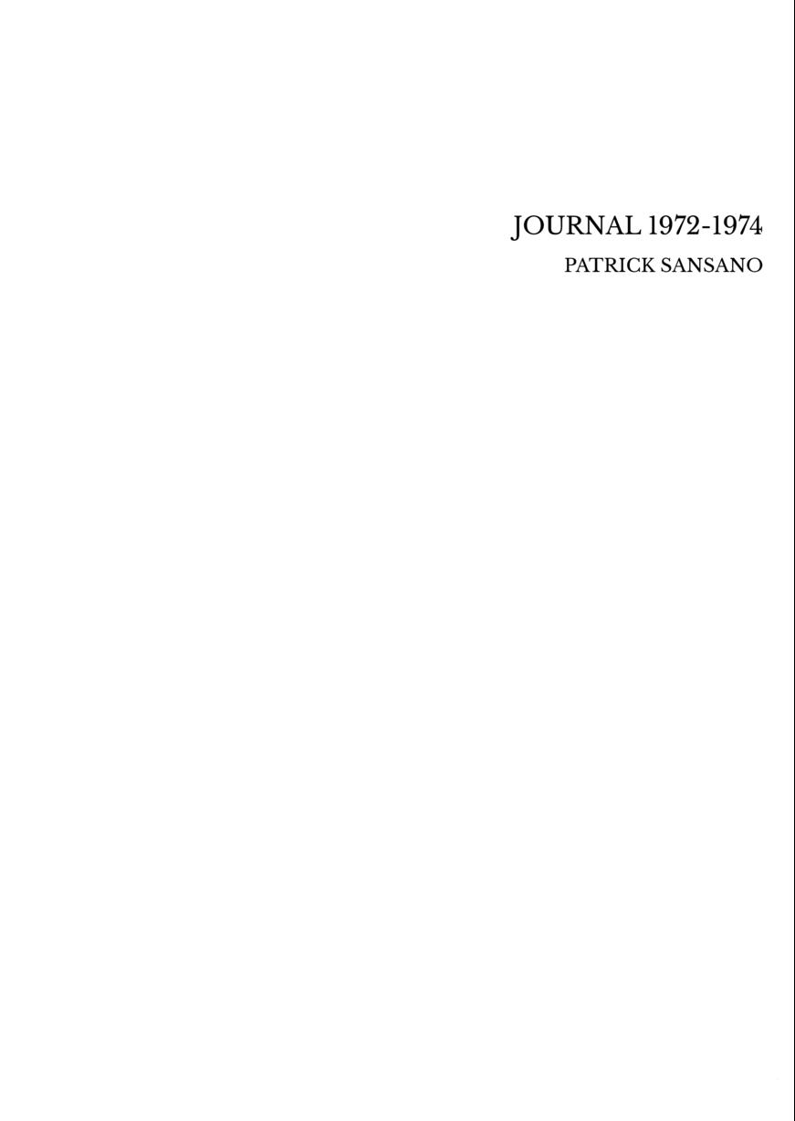 JOURNAL 1972-1974