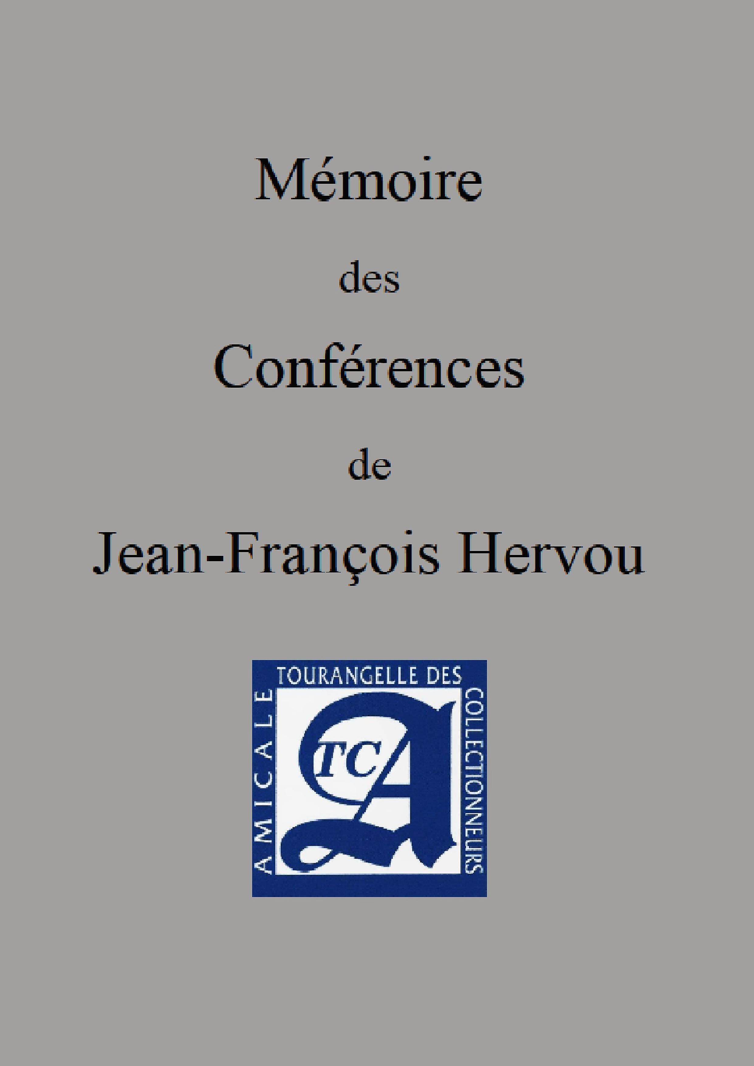 Mémoire des Conférences de J.H. HERVOU
