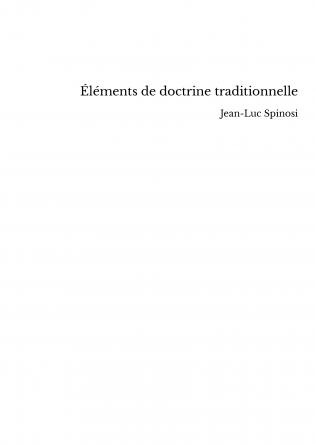 Éléments de doctrine traditionnelle