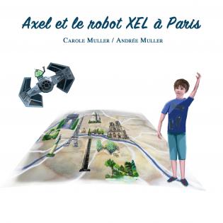 Axel et le robot XEL à Paris