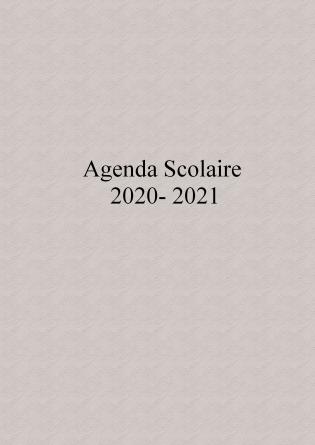 Agenda Scolaire 2020 - 2021