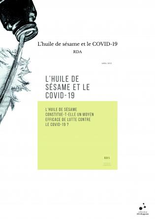 L'huile de sésame et le COVID-19