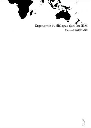 Ergonomie du dialogue dans les IHM