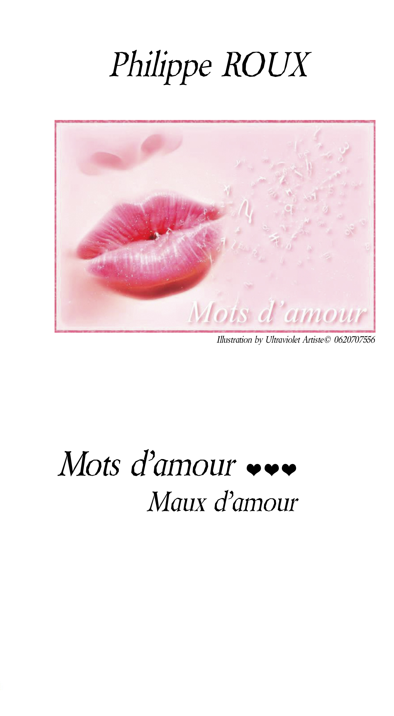 Mots d'amour ... Maux d'amour