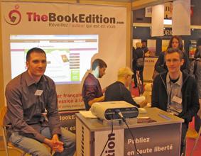 Ludovic et François, équipe TheBookEdition.com Salon du livre Paris 2012